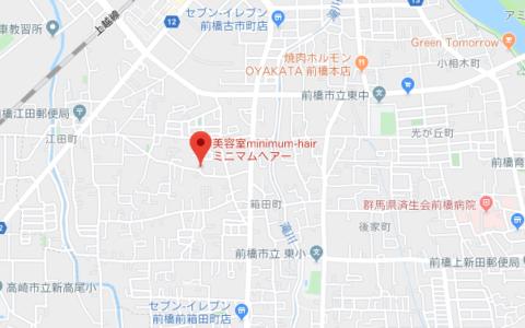 美容室ミニマムヘアー地図